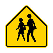 S1-1 School Sign Yellow - 30 X 30 - A Real Sign. 10 Year 3m Warranty.