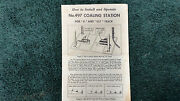 Lionel 497 Coaling Station Instructions Photocopy