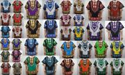 Mens Dashiki Shirts African Blouses Vintage Womens Hippie Boho Wholesales Lot 6