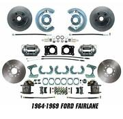 1964-1969 Ford Fairlane Disc Brake Conversion Kit Front And Rear Package