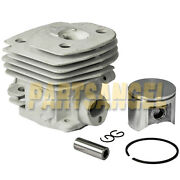 New 47mm Cylinder Piston And Ring Kit For Husqvarna 357 359 Chainsaw Parts