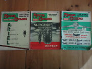 Lot Of Vintage Motorcycle Magazines 3 Pcs Motorcycling With Scooter Weekly Lot