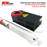Mcwlaser 150w Co2 Laser Tube 185cm And Power Supply Air Express And Insurance