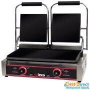 Electric Countertop Double Sandwich Grill With Dual Flat Plates Esg-2