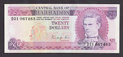 Barbados 20 Dollars Nd1988 Xf/au P39 Difficult To Find Today