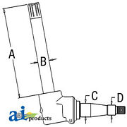 Compatible With John Deere Parts Spindle Ar53850 4030