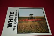 White Oliver Tractor 263 Disk Harrow Dealerand039s Brochure Pbpa