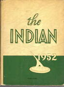 Anderson High School Indiana 1952 Indian Yearbook Annual Hs