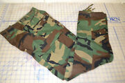 Trousers Hot Weather Woodland Camo Combat 100 Cotton Pants Cargo Small Long