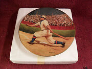1993 Issue Honus Wagner Limited Edition Collector Plate W/ Gold Card