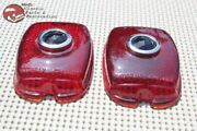 37 38 Chevy 40-52 Sedan Delivery Blue Dot Rear Taillight Lamp Glass Lens Pair