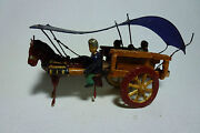 Chinese Antique Folk Compositon Toys Travel Circus People In Horse Buggy