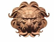 Hand Carved Variety Of Hard Wood Lion Head Appliquandeacute Rosette