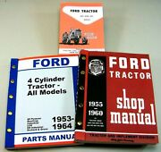 Lot Ford 851 861 871 Tractor Owner Operator Parts Service Repair Shop Manuals