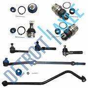 All 4 Front Ball Joints + 4 Tie Rods + Drag Links For Jeep Cherokee Comanche