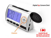 Spy Camera Clock With Motion Detection Voice And Video Recorder Digital Alarm Etc