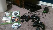 Xbox 360 Slim With 250gb Hard Drive 3 Wireless Controllers With Charger Andgames