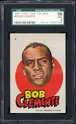 1967 Topps Test Pirates Stickers 6 Roberto Clemente Sgc 96 Mint Well Centered