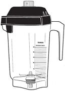 Vitamix 15978, 48oz/ 1.4l Advance Container W/ Blade And Two Piece Lid