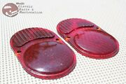 Pair Rear Taillight Tail Light Lamp Glass Lenses 25-30 Chevy Car New