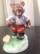 Antique Very Rare Herend Hand-painted Hungary Porcelain Bear Figurine
