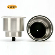 2pcs Stainless Steel Cup Drink Holder With Drain Boat Rv Camper Amarine Made Us
