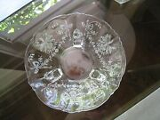 Beautiful And Elegant Orchid Heisey Round Scalloped Glassware Dishfooted 165