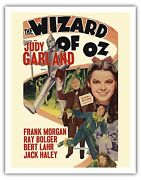 The Wizard Of Oz Judy Garland Vintage Movie Film Art Poster Print Giclee