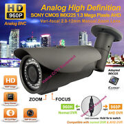 Ahd 960p 1.3mp 1/3 Sony Exmor Night Vision 2.8-12mm Outdoor Cctv Security Camera