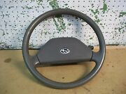 1990 Subaru Legacy Steering Wheel Horn Button Gray Cruise At Ac 4sw