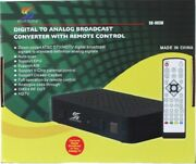 New In Box Digital Tv Converter Box With Analog Pass Through W/ Remote Control
