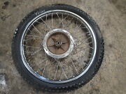 1974 74 Yamaha 400 Dt 400c Motorcycle Engine Body Front Wheel Tire 3.00-21