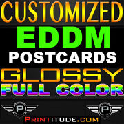 15000 Every Door Direct Mail 8x10 Eddm Color Gloss Postcard 10x8 Personalized