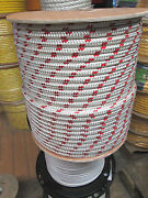 1/4 X 100and039 Sailhalyard Line Jibsheets Boat Rope Double Braid Rope 2100 Lb