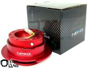 Nrg Steering Wheel Quick Release Gen 2.5 Red Body With Red Ring Srk-250rd Honda