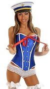 Sexy Lingerie Strapless Corset Bustier Pin-up Sailor Womenand039s Halloween Costumes