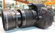 58mm 2.2x Telephoto Zoom Lens For Canon Rebel Eos 5dmkii T3i T5 T6 T5i T6i T6s