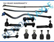13pc Tie Rod Track Bar Ball Joint Drag Link Kit For 2000 2001 Dodge Ram 1500 4x4