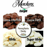 Merckens 5 Lb Melting Coating Wafers Chocolate Candy Melts Cocoa Milk Dark White