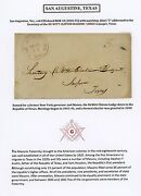 San Augustine, Texas Stampless Cover Addressed To A Masonic Lodge Secretary