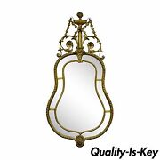 Antique Italian Gold Gilt French Adams Style Carved Wood And Gesso Wall Mirror