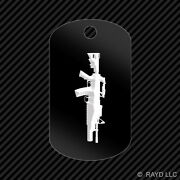 M4 W/ M203 Grenade Launcher Keychain Gi Dog Tag Engraved Many Colors