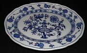Brown Westhead And Moore England Meissen Blue Onion Platter 16