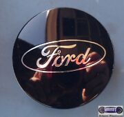 And03913-and03914 Ford Escape Used Cap Dark Blue Chrome Ford Logo 2-1/8 Dia. 3497