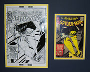 Original Production Art Steve Ditko Amazing Spider-man 30 Matted W/cover Print