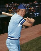Early George Brett Kansas City Royals Hall Of Fame Great 8x10 Photo