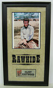 Clint Eastwood Signed Photo Rawhide. Matted And Framed Coa