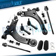 10pc Front Lower Control Arm + Tie Rods For 2004 - 2009 Chevy Impala Monte Carlo