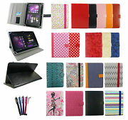 Universal Wallet Case Cover Stand Fits Various 7- 8 Inch Tablets And Stylus