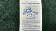 Lionel 6557 Smoking Caboose Sp-type Instructions Photocopy